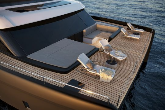 deck of the new sunreef 60 power